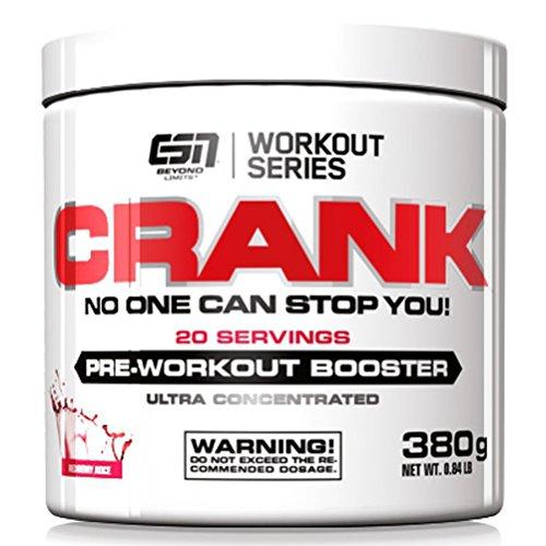 ESN Crank - Pre Workout Booster - Tropical Punch - 1er Pack (1 x 380g)