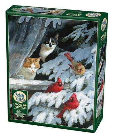 Cobble Hill 1000 Piece Puzzle - Bird Watchers - Sample Poster Included