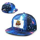 Qidsuf Unisex Wild Kratts Logo Galaxy Algodón Hip Hop Snapback Sombrero de ala plana Adulto Dad Gorras de béisbol Azul