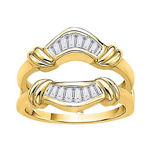 KATARINA Baguette Cut Diamond Ring Guard in 14K Yellow Gold (3/8 cttw, J-K, SI2-I1) (Size-6)