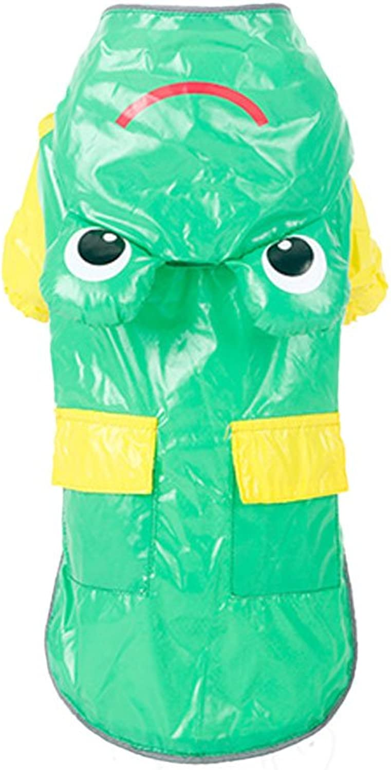 FXNN Pet Clothes  pet Dog Frog Waterproof Raincoat Clothes (color   Green, Size   M)