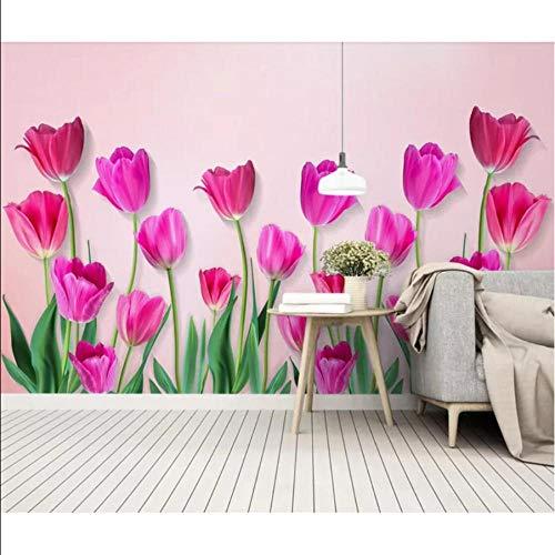 kdbshfm Wall flower wallpaper wandbild leinwand wasserdicht raum wanddekoration kunst hd ausgefallene fototapeten rollen kontaktpapier-280x200cm