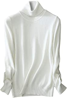 Womens' Cashmere Turtleneck Knit Sweater