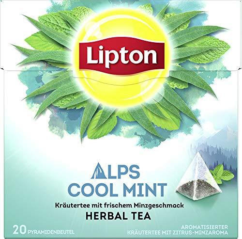 Lipton Kräutertee Alpenminze Pyramidenbeutel (1 Packung, 20 Beutel)