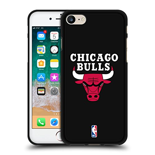 Head Case Designs Offizielle NBA Einfarbig Chicago Bulls 2 Schwarze Soft Gel Huelle kompatibel mit Apple iPhone 7 / iPhone 8 / iPhone SE 2020