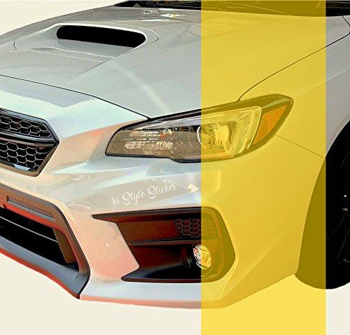 Scheinwerferfolie GELB 200cm x 30cm Gelbe Folie Wasser und UV-Beständige Folie für die Folierung der Nebelscheinwerfer