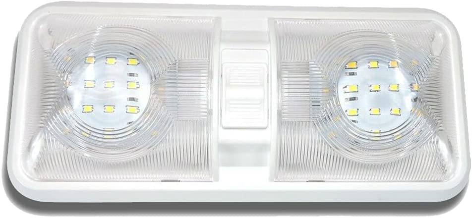 TWDRET RV LED Ceiling Double Dome 2021 new with Superlatite Swit OFF Light Fixture ON