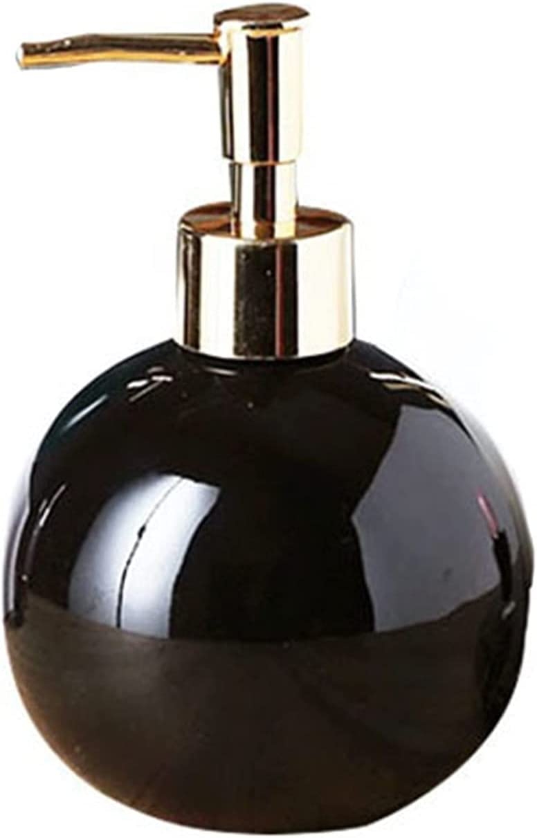 Limited time cheap sale 400ml Nordic Round Ceramics Bottle Bo Refillable NEW before selling ☆ Bathroom Shower
