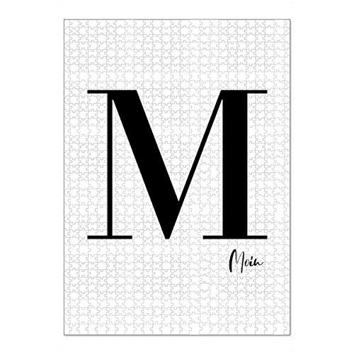 artboxONE Ravensburger-Puzzle XL (1000 Teile) Städte / Hamburg M - Moin - Puzzle Typografie blockschrift Buchstabe