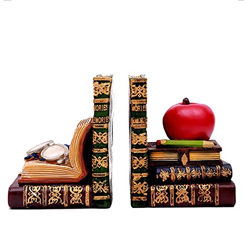 Book Ends For Book Shelves Vintage Recipe Book Holder Oak, Decorative Bookend Statues For Home Office Llibrary School