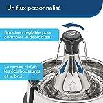 PetSafe - Fontaine à Eau pour Animaux 360° Drinkwell en Acier Inoxydable. Capacité 3.8 L, 5 Jets d'eau en cascade personnalisables, Filtre à charbon et en mousse pour une eau de qualité #3