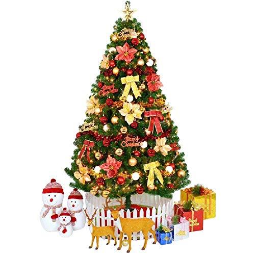 Inicio Equipos Decoraciones para árboles de Navidad Exterior Interior Preiluminado Fibra óptica Xmastree en luces LED Adornos Pvc ecológico Retardante de llama Fácil montaje-colorido (Tamaño: 7.8Ft