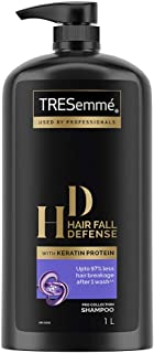 Tresemme Hair Fall Defence Shampoo, With Keratin Protein, Upto 97% Less Hair Breakage, 1 Ltr
