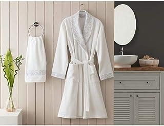 Winter Bathrobehawl Collar Women 'S Robe Set Women Short Satin Robe Nightgown Soft Belt Underwear Bathrobes Sleepwear (Siz...