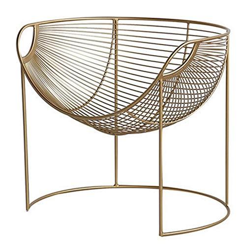 WJS Helles Luxusnetz roter Stuhl Nordischer moderner einfacher einzelner Stuhl Netto roter Ankerstuhl Schlafzimmer Balkon beiläufiger Sandverfassungsstuhl