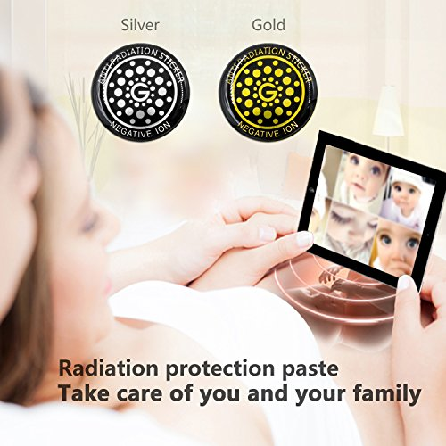 EMF Protection Sticker Cell Phone Anti Radiation Protector Shield EMR Neutralizer for All Mobile Phones iPad iPod MacBook(Silver 6pcs)
