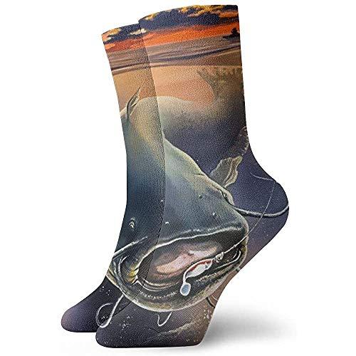 Herren Kleid Socken Vintage Catfish Winter Warm Dick Gedruckte Casual Cosy Crew Socken