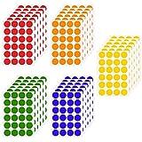 Chstarina 2cm Pegatinas Colores, Pegatinas Redondas, Etiquetas Adhesivo, 6 Colores Pegatinas Círculo Etiquetas Autoadhesivo, Etiquetas de Codificació para Oficina, 720pcs/30 Hojas