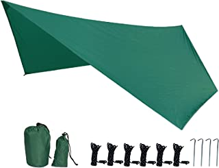 TRIWONDER 六角形 タープ グランドシート 防水軽量 天幕 テントシート キャンプマット 収納バッグ付き