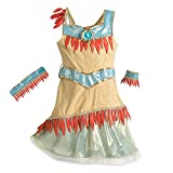 Disney Pocahontas - Disfraz infantil (talla 9/10), color marrón