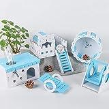 ZHDIN Chong Shang Tian Hamster Toy Paradise suministra Muebles Rueda para Correr Columpio Hamaca Jaula Accesorios