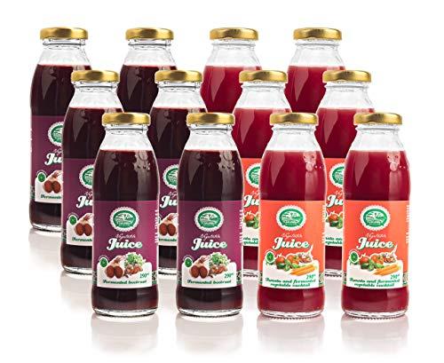 Beetroot, Fermented Vegetable Juice Mixed Case 12x290 ml by ZAGARIU Vegetable Juice (Pack of 2 x 6)
