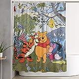 DHGER Duschvorhang Winnie The Pooh Spring Time Shower Curtain Decor for Men Women Boys Girls 60x72 in
