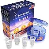 EaseBreath Set of 4 Snore Stopper Nose Vents for Men and Women   Anti Snoring Device – No Side Effects   Nasal Dilator – Multiple Sizes