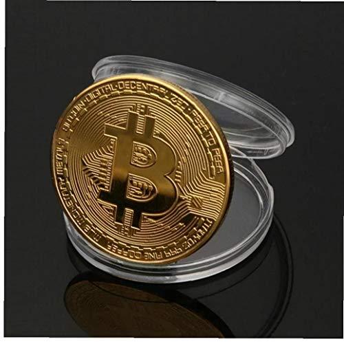 Aisoway Arte del Oro Plateado Colección De Moneda Bitcoin Inicio Cuarto De Decoración