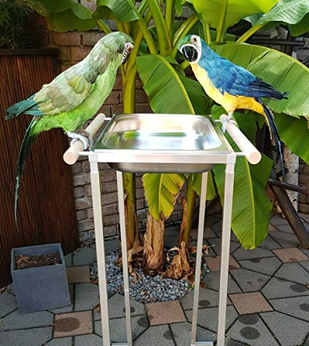 Papageien BADEWANNE XXL ARA Sittiche Vögel Edelstahl FREISTEHEND 1 Meter HOCH Vogelbadehaus Vogelbadewanne Badehaus