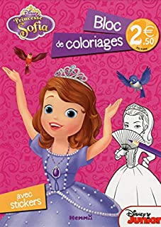 Princesse Sofia : Bloc de coloriages avec stickers