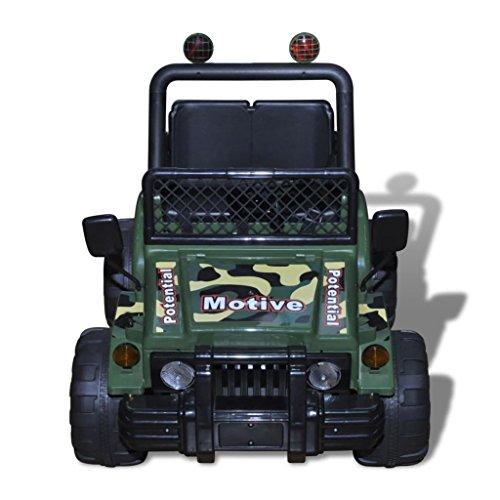 RC Auto kaufen Kinderauto Bild 3: vidaXL Kinderauto Elektroauto Kinderfahrzeug Kinder Fahrzeug 2-Sitzer Armeegrün*