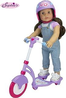 Sophia's Doll Scooter & Helmet Set Made, 18