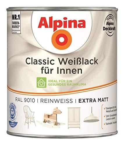 Alpina Classic Weißlack für Innen Reinweiß extra matt 0,75 Liter