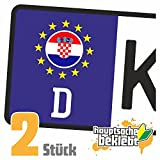 Kroatien Kennzeichen Aufkleber Sticker Nummernschild Land Country Nation