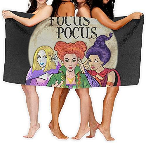 YOMOCO Hocus Pocus - Toalla de playa, yoga, viajes, camping, gimnasio, piscina, suave y cómoda, se puede utilizar como manta (ocupando 4,90 cm x 180 cm)