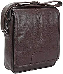 Sphinx Artificial Leather Long Flap Cross-Body Sling Bag for Men/Boys - (L x B x H: 30 x 25 x 7 cm) (Dark Brown),SPHINX,SALSBDBRN07