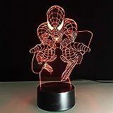 Meilleur Cadeau Enfants 3D Spiderman Nuit Lumière Marvel Film Fans Superheros USB...