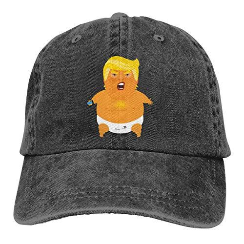 huatongxin Baby Trump Blimp Anti Trump Unisex Gorra de Beisbol Twill Adjustable Sombrero de Vaquero