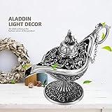 Fabater Lámpara Magic Legend Aladdin, lámpara de Genio de Estilo Antiguo, lámpara de Deseos, para decoración del hogar, Figuras coleccionables para(Ancient Tin)