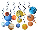 Paper Jazz Outer space theme party supply kit swirl party decoration planet birthday party