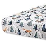 Burt's Bees Baby – Fitted Crib Sheet, Boys & Unisex 100% Organic Cotton Crib Sheet For Standard Crib and Toddler Mattresses (Heather Grey Thin Stripes)