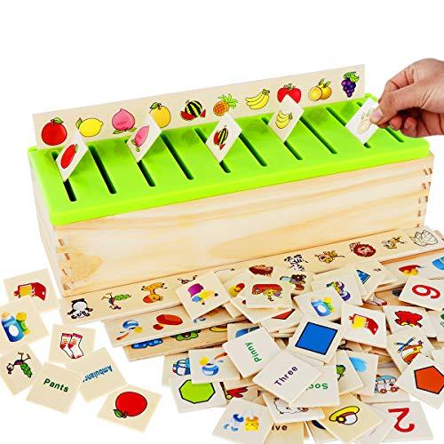 Wooden Montessori Sorting Box