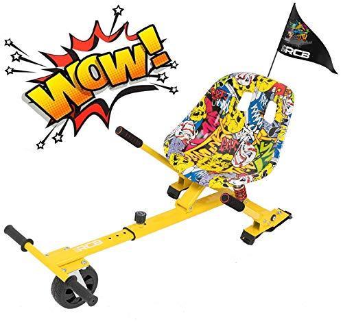 RCB Hoverkart Anti-Shock per Accessorio Hoverboard per Monopattini 6.5/8/10 Pollici Sedile Comodo Gokart Robusto Regolabile Go-Kart