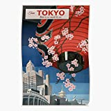 Générique Tokyo Retro Japan Rail Vintage Lantern Travel Paper City Affiche d'impression d'art de Mur de décor à la Maison !