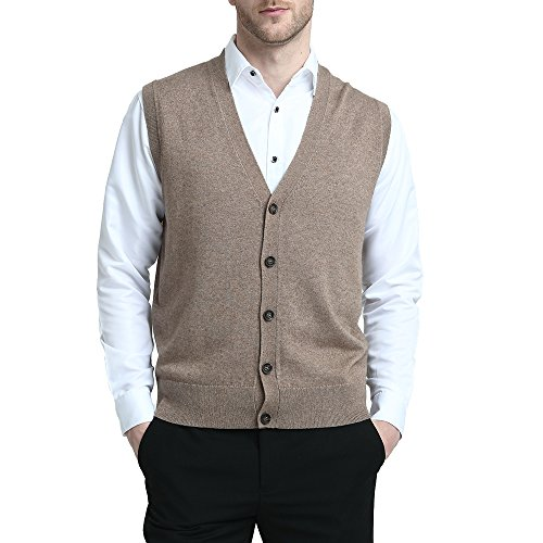 Mens Lambswool Slipover V Neck Sleeveless Sweater