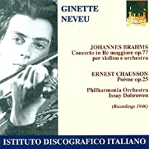 Brahms/Chausson: Ginette Neveu