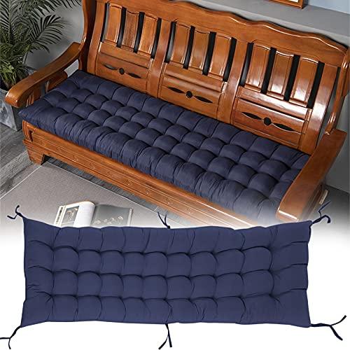 Indoor/Outdoor Bench Cushion,Patio Loveseat Swing Cushion for Lounger Garden Furniture Patio Lounger Bench (Dark Blue, 120x50cm)