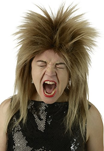 80s Rocker Wig   Tina Turner, 70's, 80's Rock Star Wig, Mixed Brown Blonde Bowie Labyrinth Wig