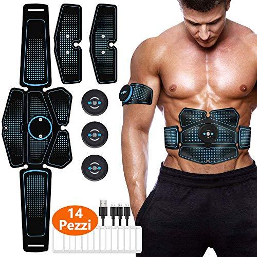 Electroestimulador Muscular Abdominales,Electrodos para fisioterapia, EMS Estimulador Muscular…